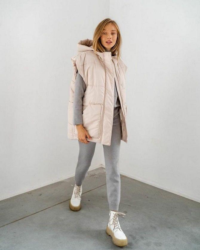 Дутый жилет – модная вещь в гардеробе каждой девушки 13