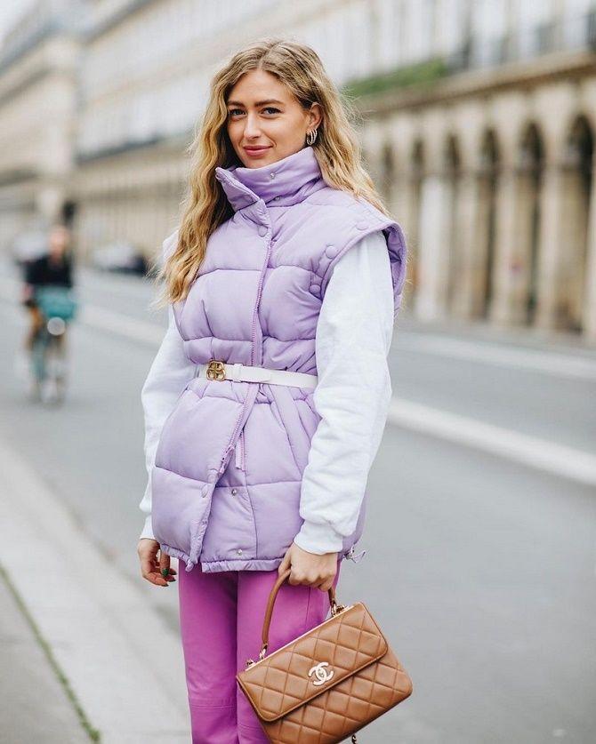 Дутый жилет – модная вещь в гардеробе каждой девушки 14