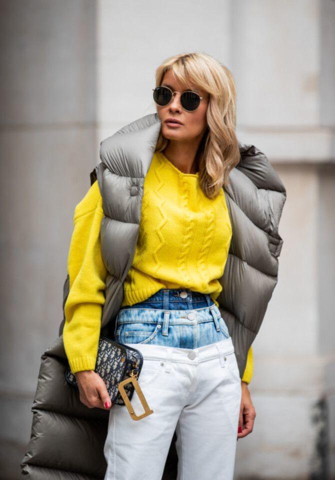 Дутый жилет – модная вещь в гардеробе каждой девушки 20