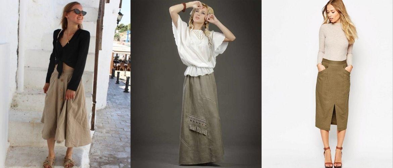С чем носить льняную юбку – очень необычный образ