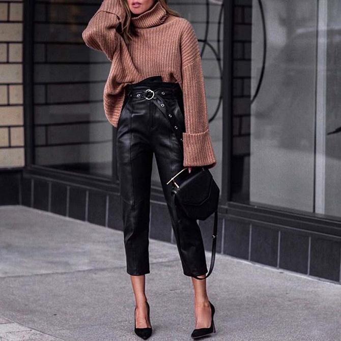 Самые модные способы использовать в гардеробе кожаные вещи – с чем их сочетать? 11