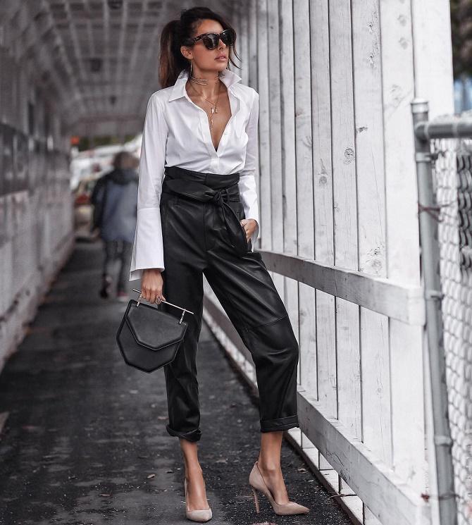 Самые модные способы использовать в гардеробе кожаные вещи – с чем их сочетать? 12