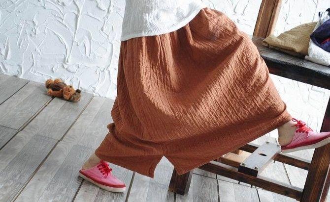 С чем носить льняную юбку – очень необычный образ 11