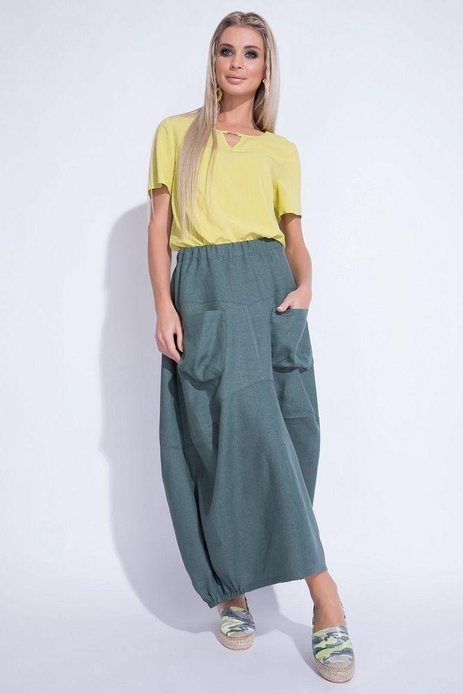 С чем носить льняную юбку – очень необычный образ 14