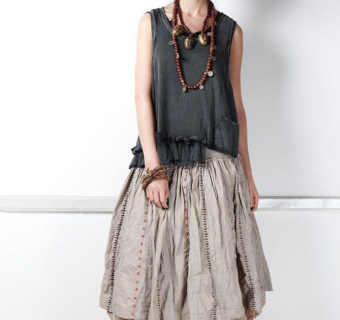 С чем носить льняную юбку – очень необычный образ 16