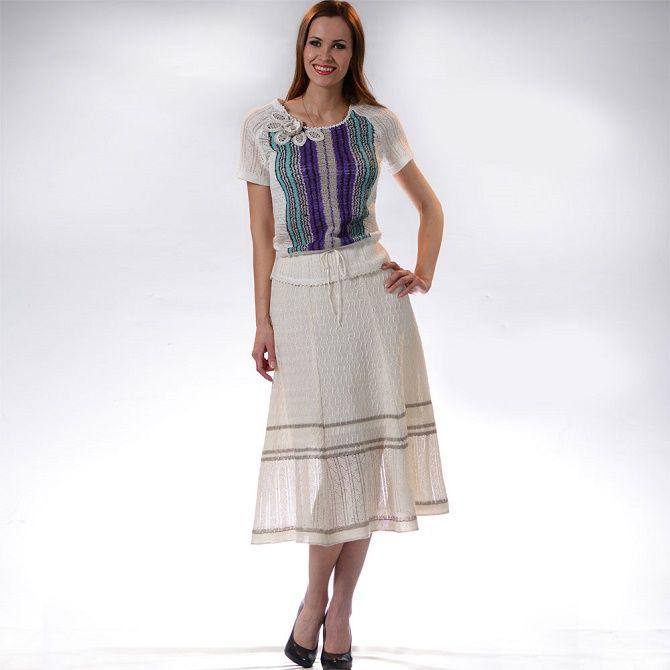 С чем носить льняную юбку – очень необычный образ 18
