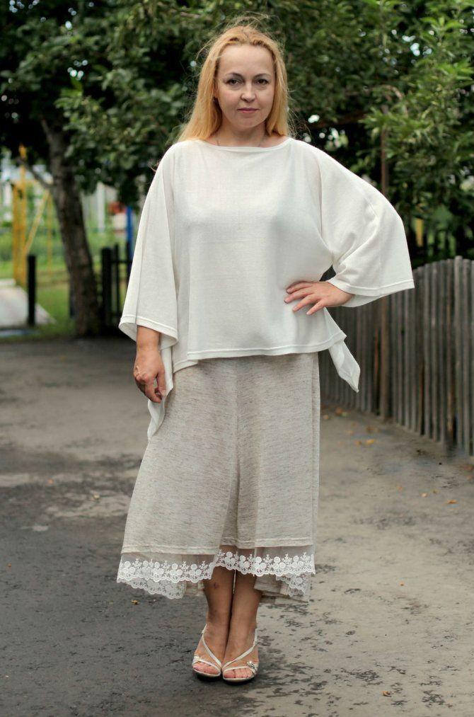 С чем носить льняную юбку – очень необычный образ 19