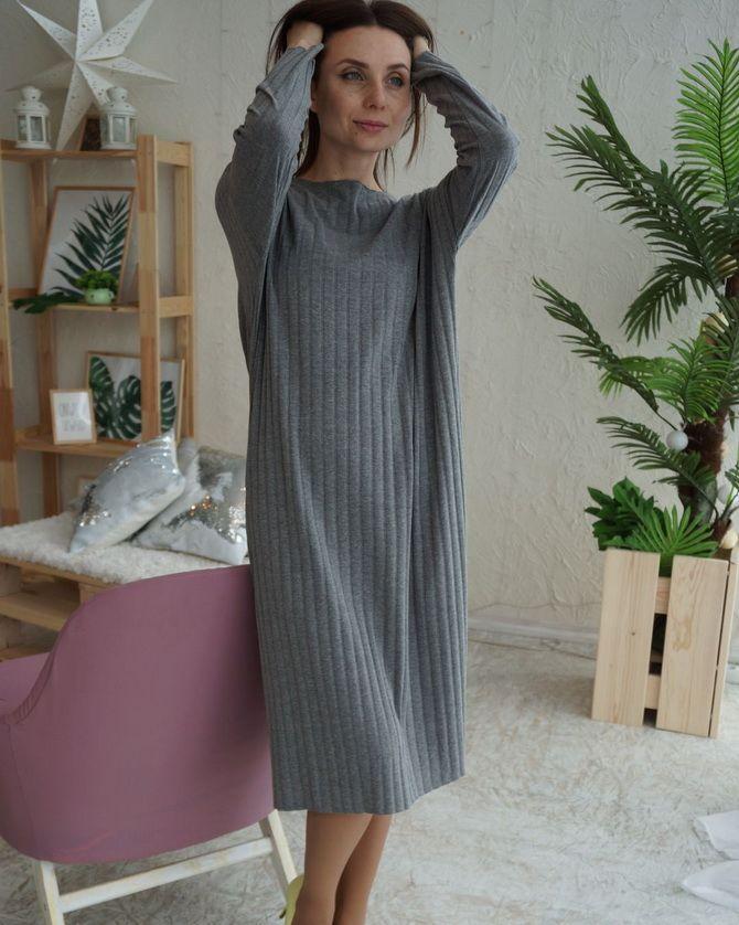 Платье-балахон: как носить и кому подойдет 5