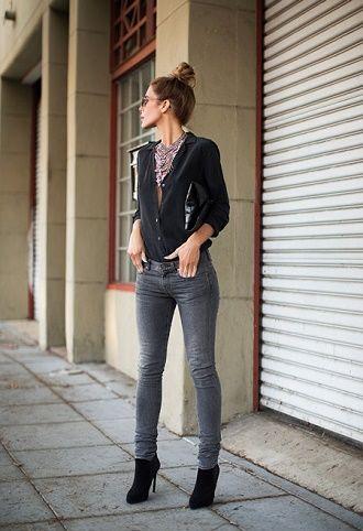 С чем носить серые джинсы – популярные модели этого года? 1