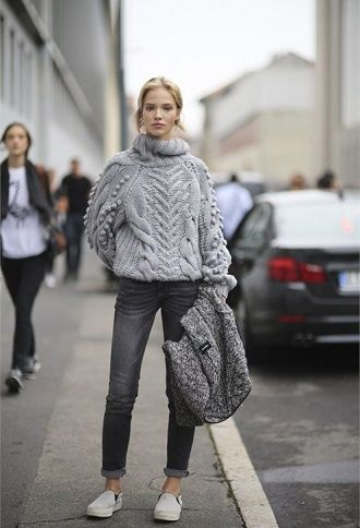С чем носить серые джинсы – популярные модели этого года? 12
