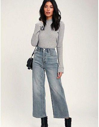 С чем носить серые джинсы – популярные модели этого года? 15