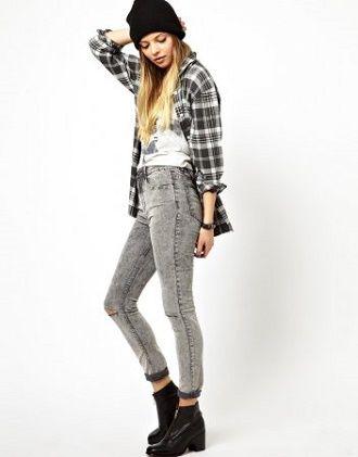 С чем носить серые джинсы – популярные модели этого года? 16