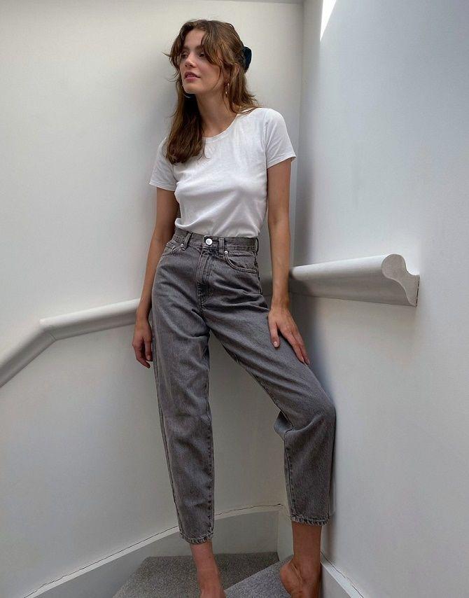 С чем носить серые джинсы – популярные модели этого года? 17