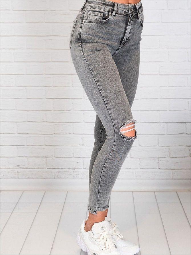 С чем носить серые джинсы – популярные модели этого года? 18