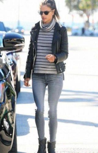 С чем носить серые джинсы – популярные модели этого года? 20