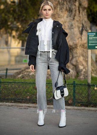 С чем носить серые джинсы – популярные модели этого года? 5