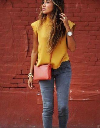 С чем носить серые джинсы – популярные модели этого года? 9