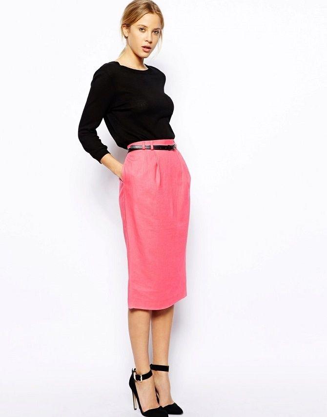 С чем носить льняную юбку – очень необычный образ 5