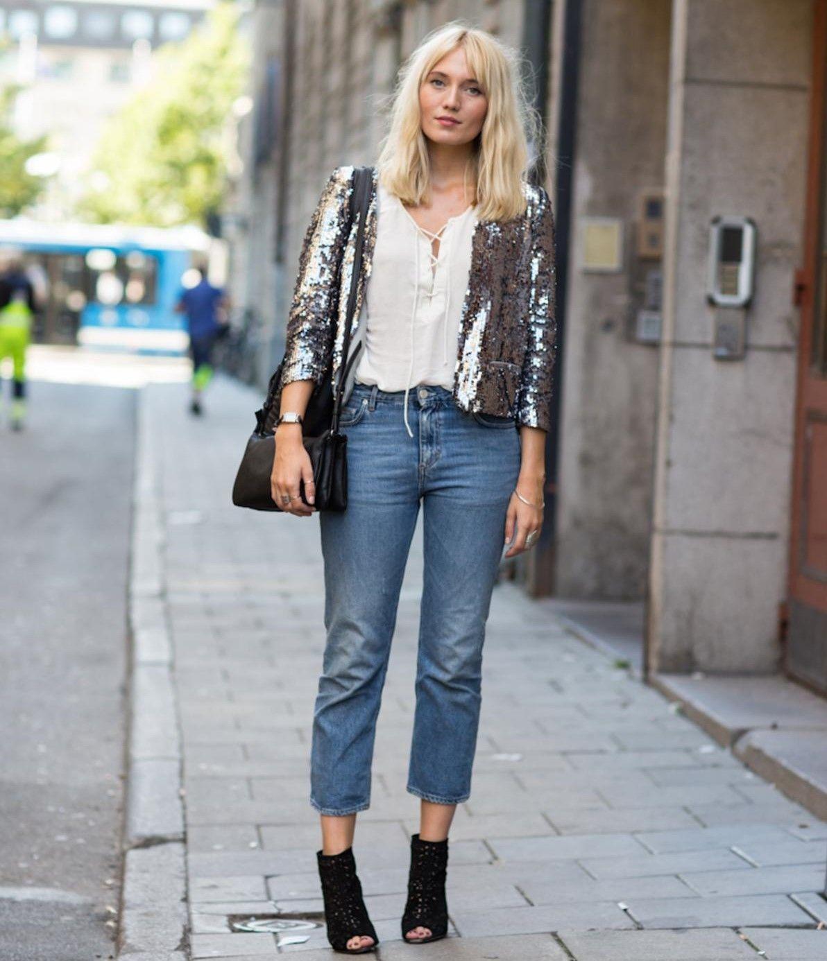 Як носити жіночий піджак з джинсами – модні ідеї 5