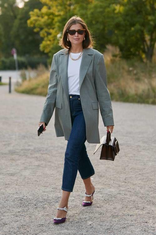Как носить женский пиджак с джинсами — модные идеи 14