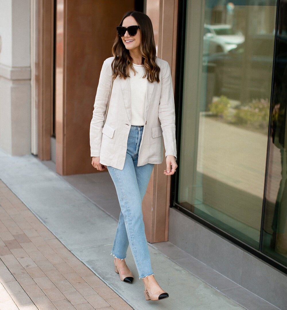 Как носить женский пиджак с джинсами — модные идеи 4