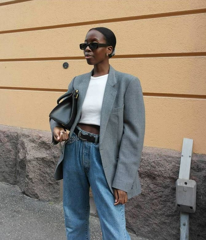 Как носить женский пиджак с джинсами — модные идеи 2
