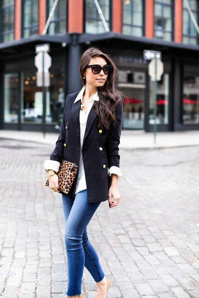 Як носити жіночий піджак з джинсами – модні ідеї 3