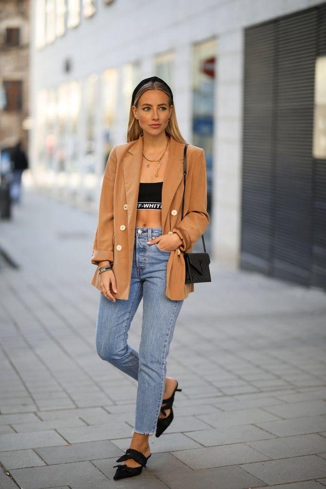 Как носить женский пиджак с джинсами — модные идеи 9