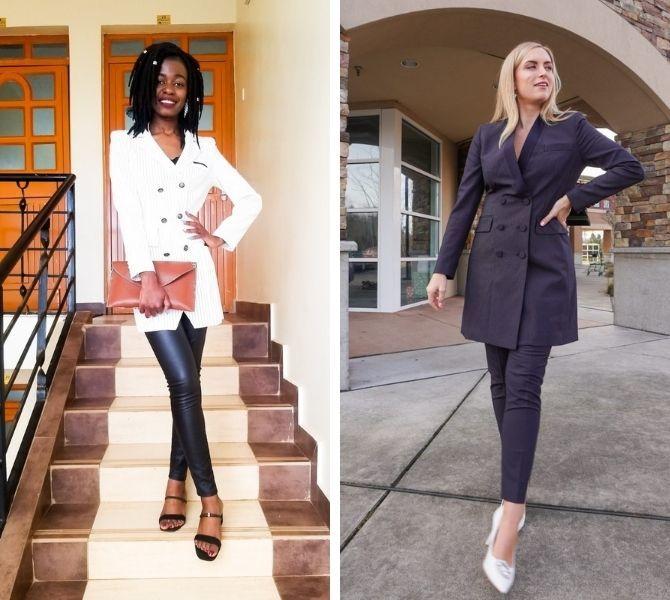 Модна сукня-піджак: кращі образи, кому варто носити 13