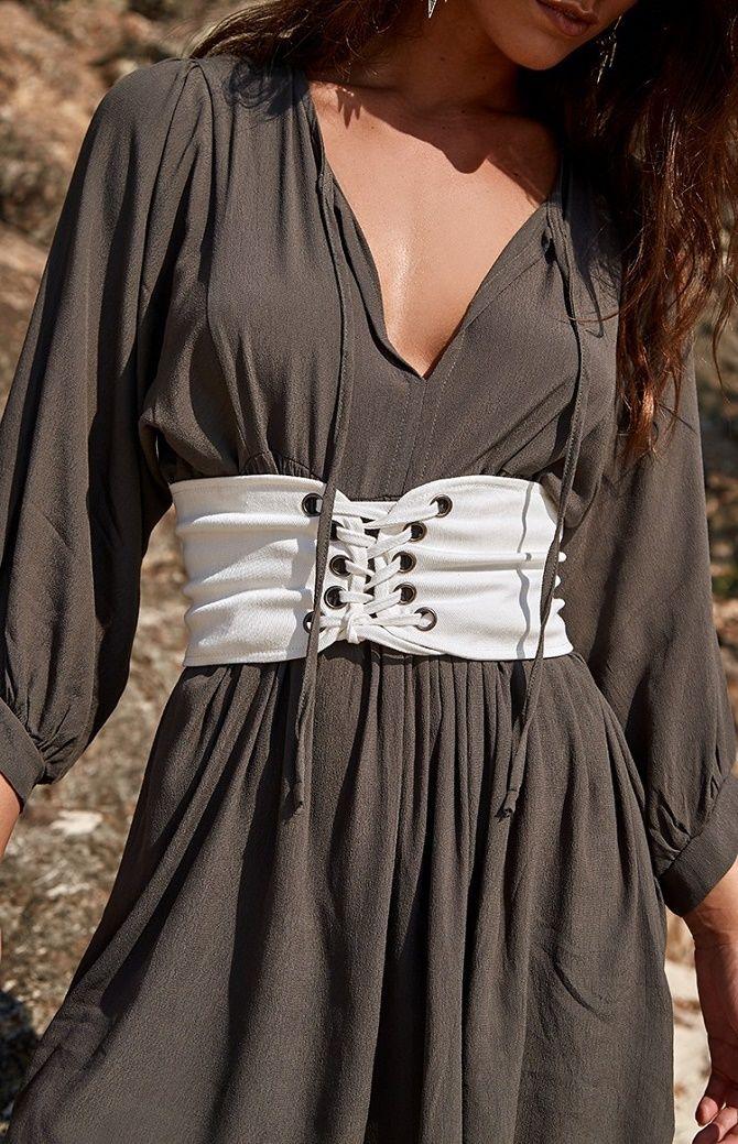 Як носити широкий пояс в цьому сезоні – модні прийоми 11