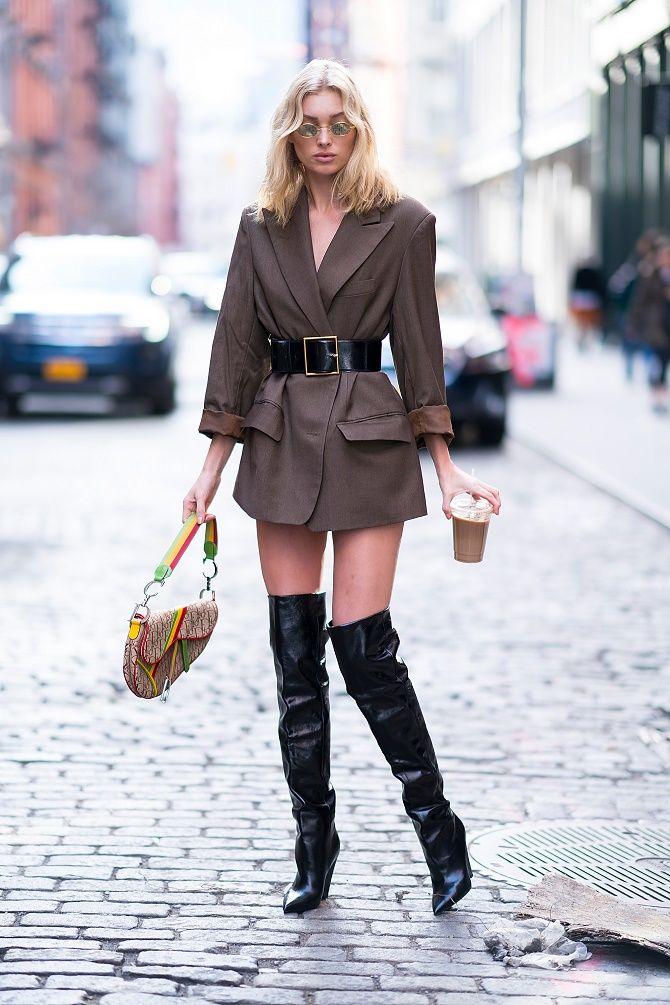 Як носити широкий пояс в цьому сезоні – модні прийоми 19