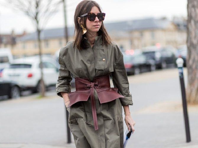 Як носити широкий пояс в цьому сезоні – модні прийоми 5
