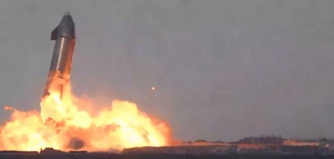 Прототип космического корабля Starship SpaceX для полетов на Марс взорвался после успешной посадки 4