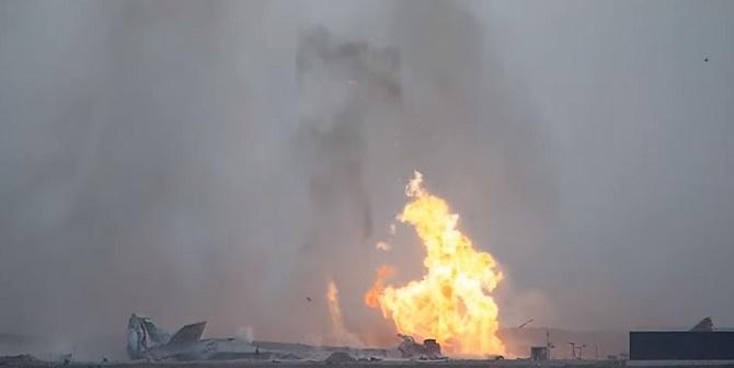 Прототип космического корабля Starship SpaceX для полетов на Марс взорвался после успешной посадки 5
