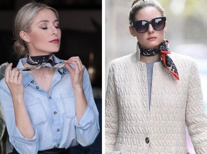 Как завязать узкий платок: стильные способы 1