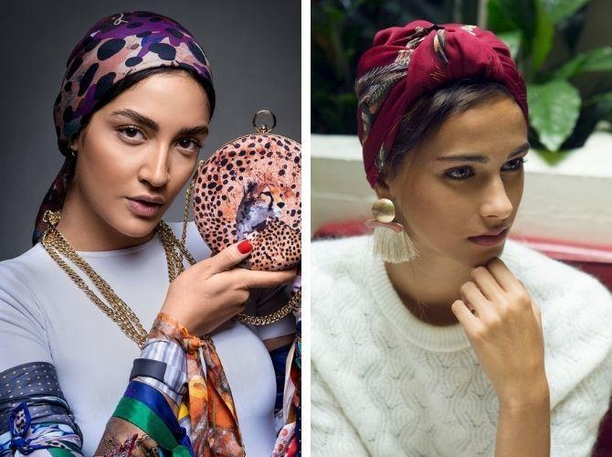 Как завязать узкий платок: стильные способы 10