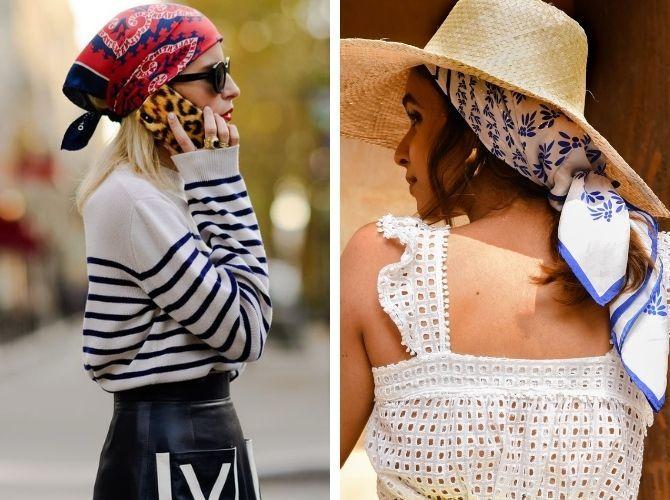 Как завязать узкий платок: стильные способы 11