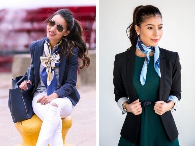 Как завязать узкий платок: стильные способы 2
