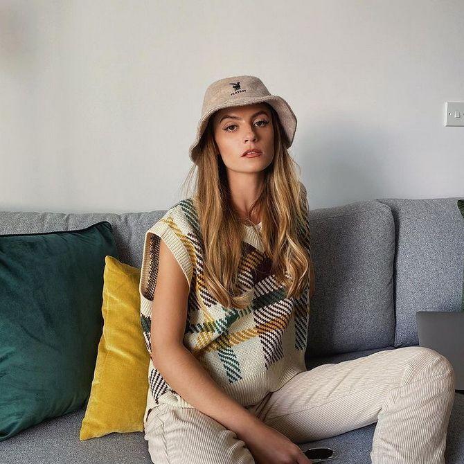 Модний трикотажний жилет в стилі препп: стильні поєднання на весну 2021 23