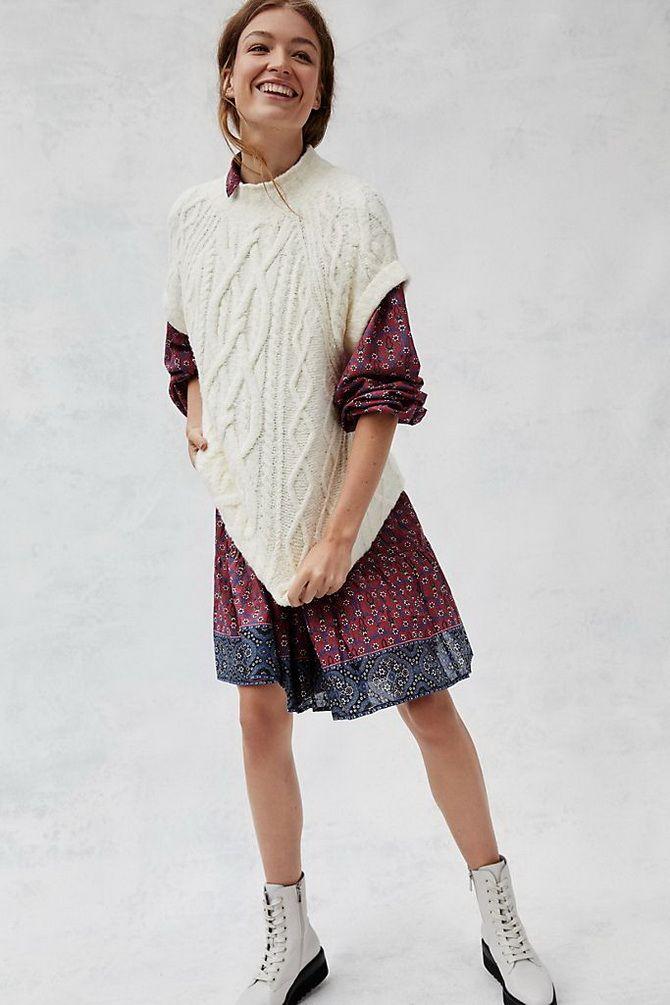 Модний трикотажний жилет в стилі препп: стильні поєднання на весну 2021 9