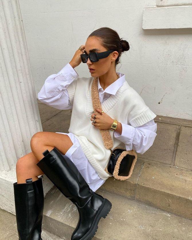 Модний трикотажний жилет в стилі препп: стильні поєднання на весну 2021 12