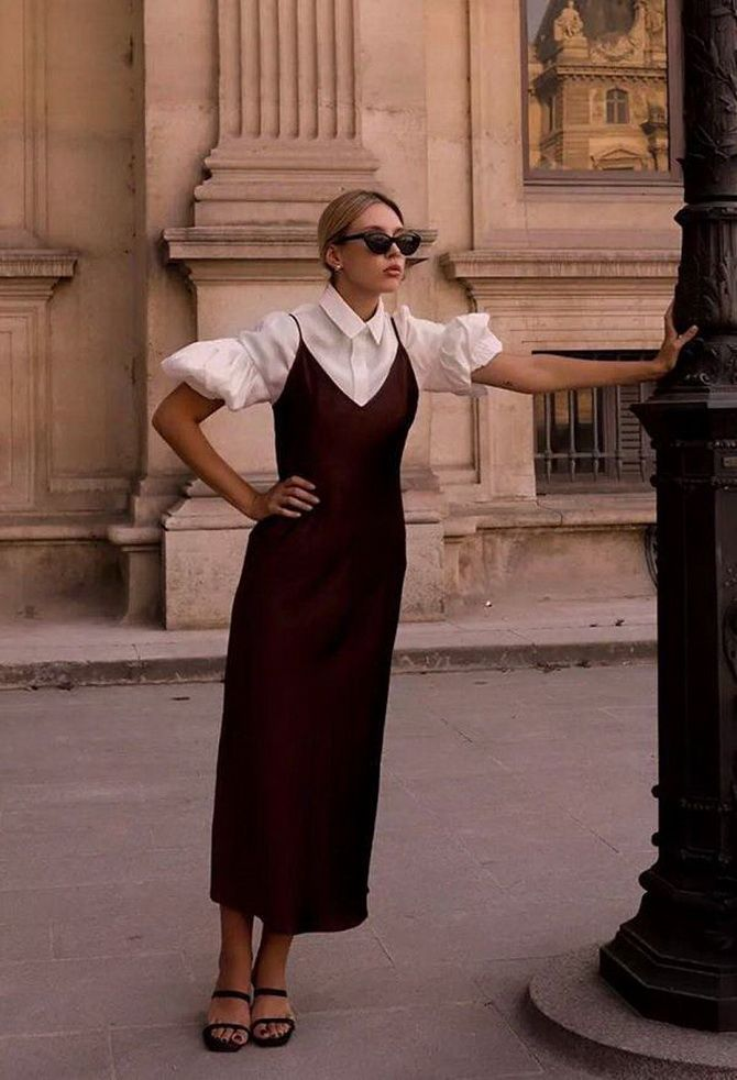 5 способов, как носить платье-комбинацию на любой случай 13