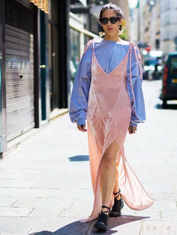 5 способов, как носить платье-комбинацию на любой случай 14