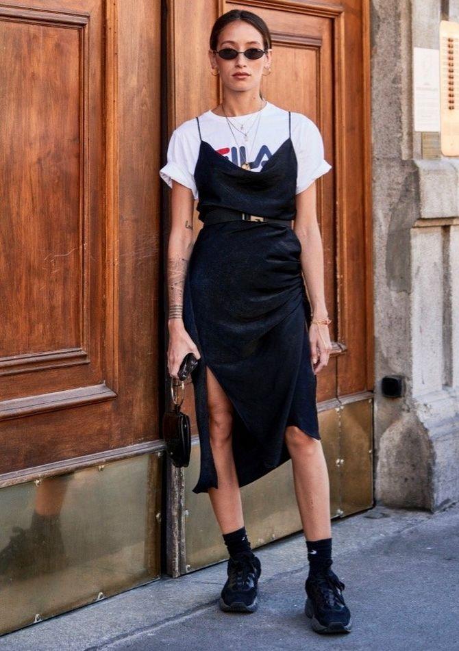 5 способов, как носить платье-комбинацию на любой случай 12