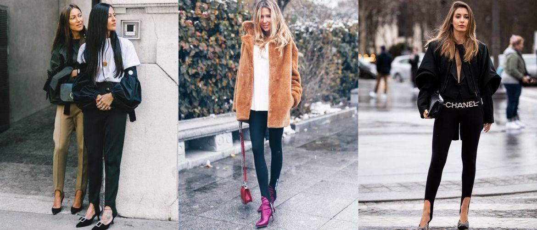 Леггинсы со штрипками: модный тренд весны и лета 2021