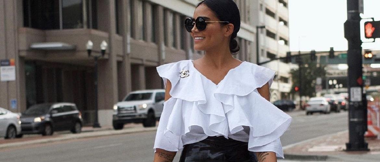 Біла блуза з воланами – найромантичніший тренд сезону весна-літо 2021