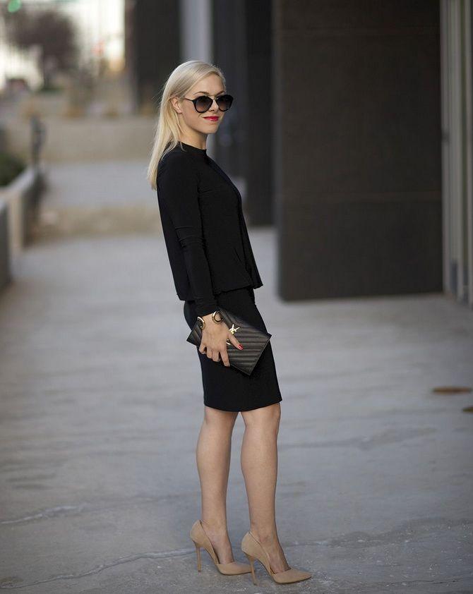Бежевые туфли на высоком каблуке — с чем носить? 6