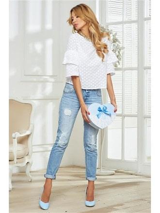 Біла блуза з воланами – найромантичніший тренд сезону весна-літо 2021 2