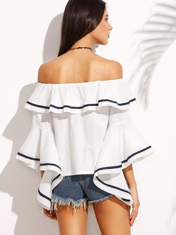Біла блуза з воланами – найромантичніший тренд сезону весна-літо 2021 11