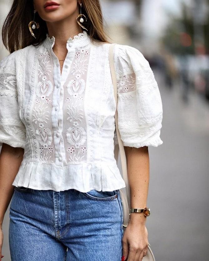 Біла блуза з воланами – найромантичніший тренд сезону весна-літо 2021 13
